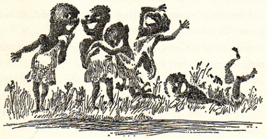 The Oompa-Loompas, as illustrated by Joseph Schindelman, 1964
