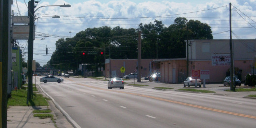 Michigan and the Orange Blossom Trail: Right in the heart of crack town, just two blocks from Keith's panhandling off-ramp, and a mile or so from Connie's parking lot where she would beg from parking customers.