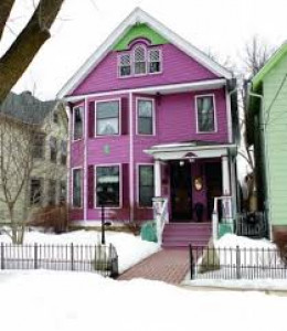 One of many colorful houses in the Wilmar Neighborhood