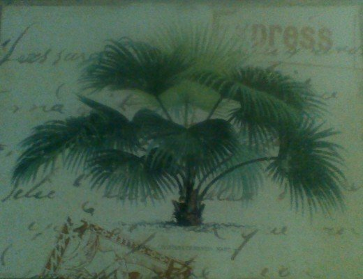 My palm tree place mat, side 1