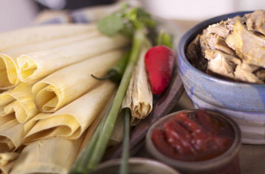 ingredients for the best tamales ever!