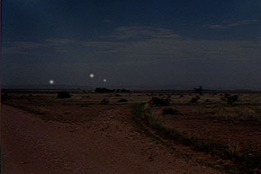Photo of the baffling Marfa Ghost Lights