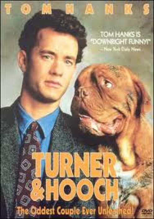 Tom Hanks is known for his dramatic roles but he also has comedic roles such as Turner and Hooch.