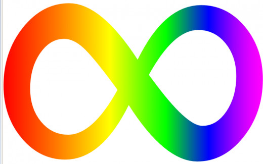 Autism infinity symbol. An alternative to puzzle piece autism symbols
