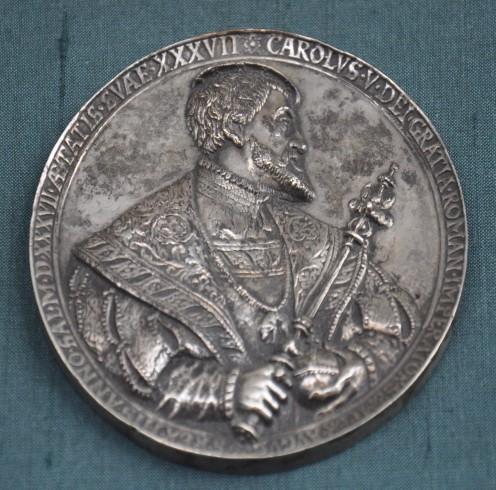 Silver medal, Emperor Charles V, 1537