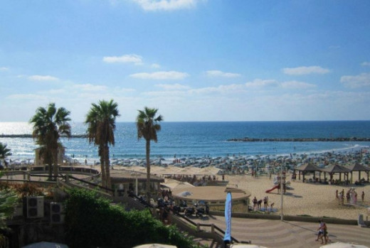 View of Tel Aviv Beach from the David InterContinental Hotel
