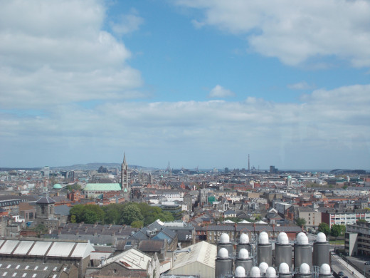 The View of Dublin from the Guinness Stockhouse