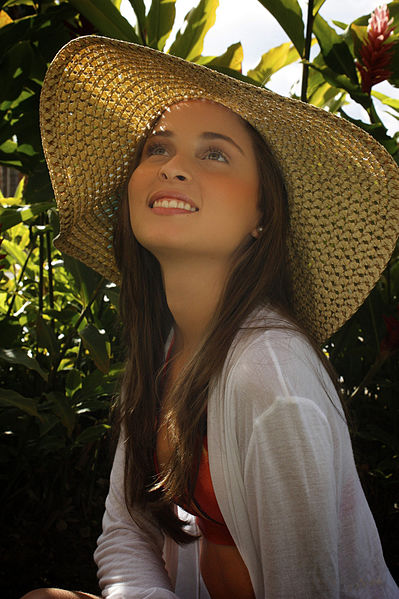 Sun hats can be fashionable