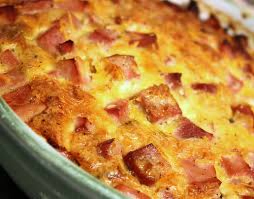 Ham and Cheese Casserole is filling and full of ham and multiple cheeses.