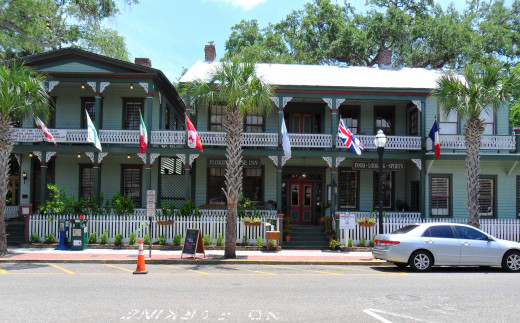 Oldest hotel in FL! We ate lunch here at the FL House Inn.