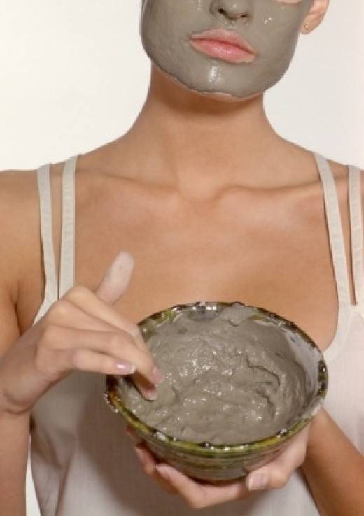 Some people love to use facial masks made of clay.