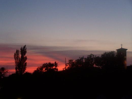 Morning comes in splendor all over God's world