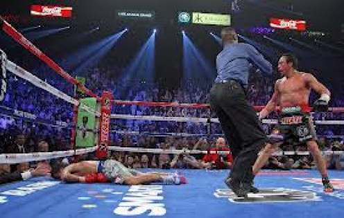 Juan Manuel Marquez knocked Manny Pacquiao out cold in the 6th round of their fourth encounter.