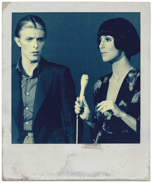 David Bowie and Cher in a CBS Television Broadcast