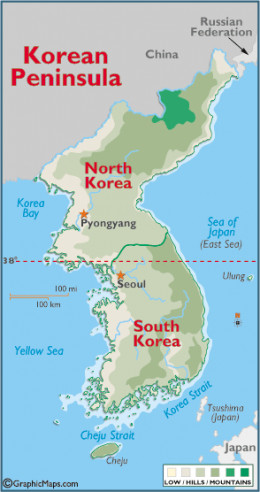 Korean Peninsula Map