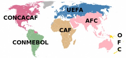 FIFA Associations Map