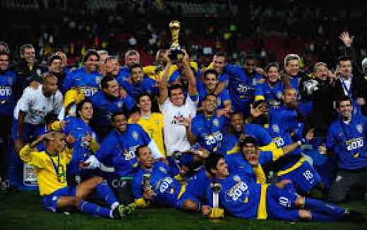 Brazil with the third title