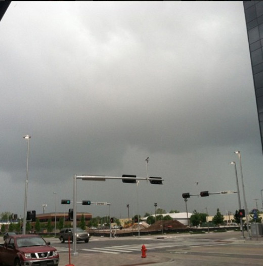This was the storm that hit before the big tornado in Moore, OK (nearby suburb)