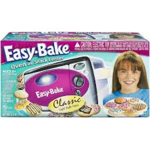 The easy bake oven was a toy but it was also a real oven that baked cookies, biscuits and other simple food items.