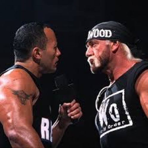 Hollywood Hogan of the NWO is a bad guy version of Hulk Hogan that appeared on WCW. Even in his later years Hogan was a tireless worker.