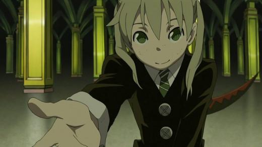 One of the main characters of Soul Eater, Maka Albarn.