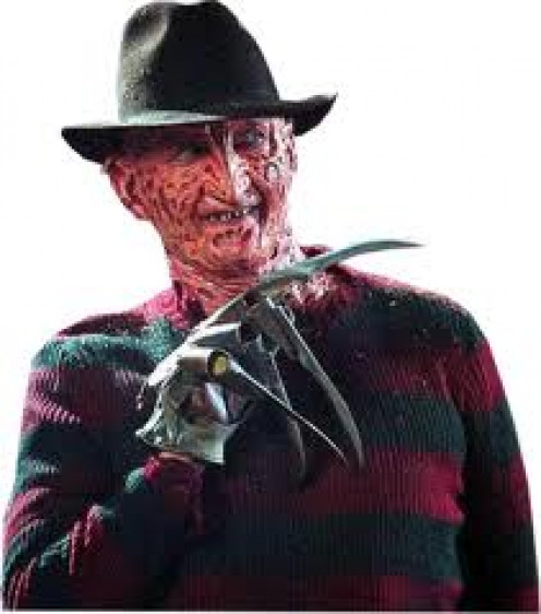 Freddy Krueger was a killer who was burned to death but comes back in your dreams and turns them into nightmares.