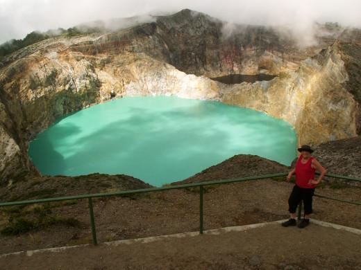 Coloured lake at Kelimutu