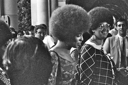 A 1970s Angela Davis with an Afro