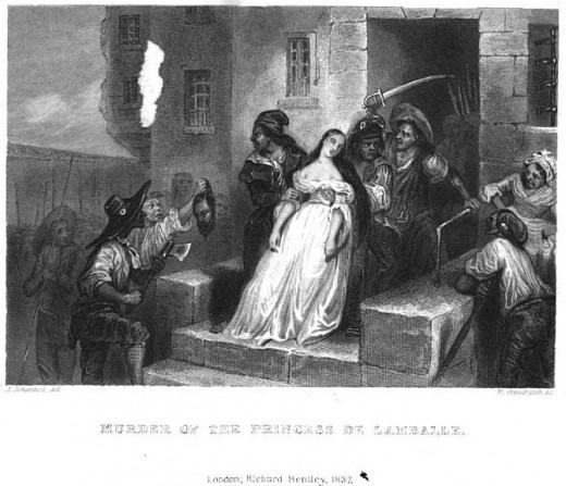 Murder of Princess De Lamballe a friend of Marie Antoinette