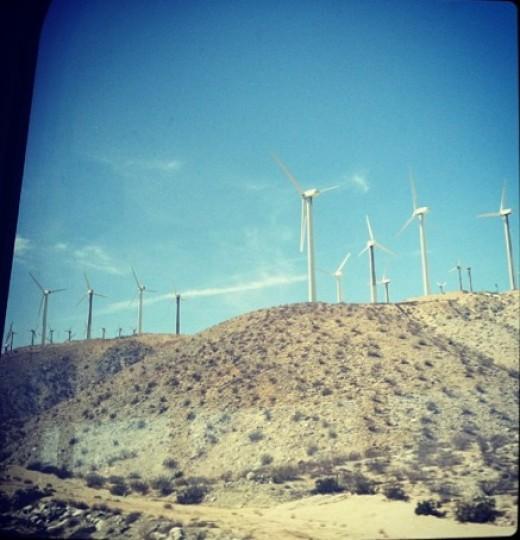 Wind Turbine Farm in San Bernardino, CA.