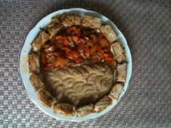 Sautéed Vegetables, Amaranth Grain, and Fried Pork Chop (Sliced)