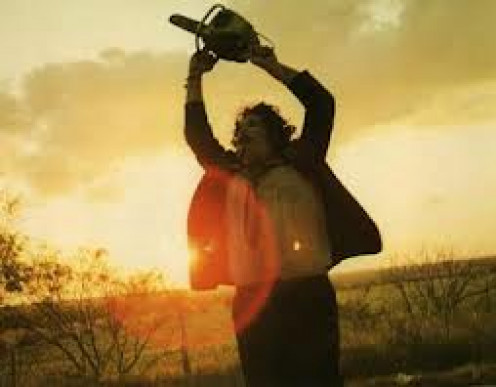 Leatherface was the killer from The Texas Chainsaw Massacre.  Iu has made several sequels.