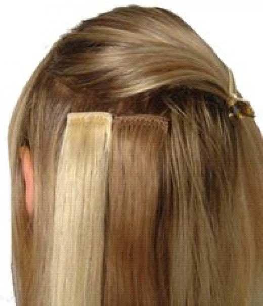 Pre-taped Hair Extensions