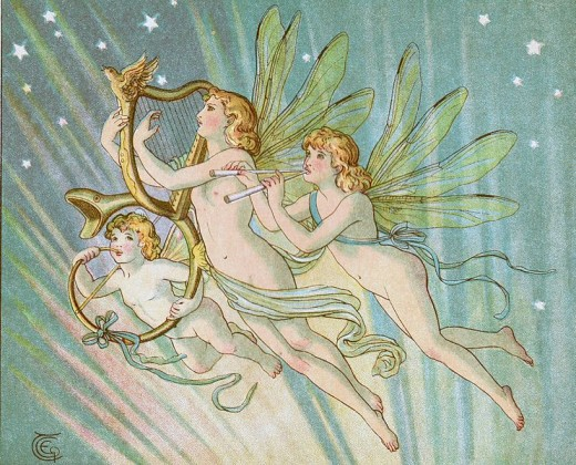 This type of fairy would be a trooping fairy because they are traveling in a group.