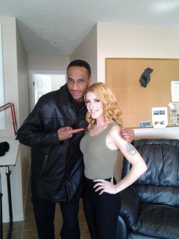 Chilling with actress model Chaunty
