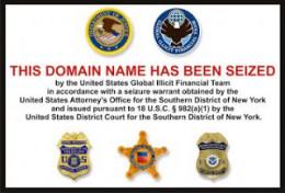 Domain Seizure Notice (courtesy of US DOJ)