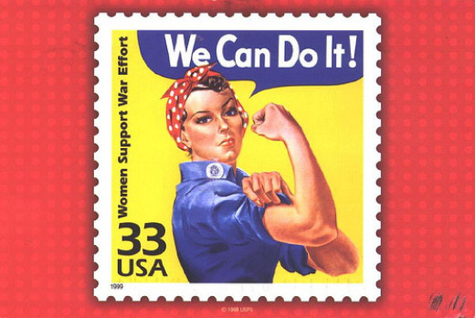 3. Rosie The RIveter We Can Do It Postage Stamp.