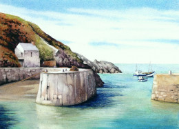 """Porthgain Harbour"" watercolour by Helen Lush"