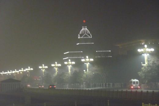 1 d) Tiananmen Square at night