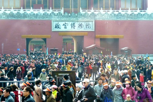 2 c) Crowds at Forbidden City