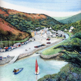 """Solva Harbour"" by Helen Lush"