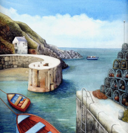 """Porthgain 2012"" watercolour by Helen Lush"