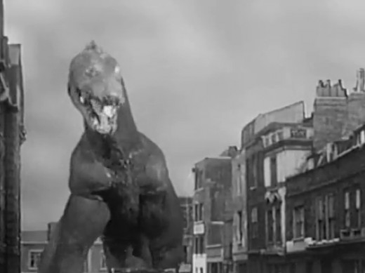 The creature attacks London
