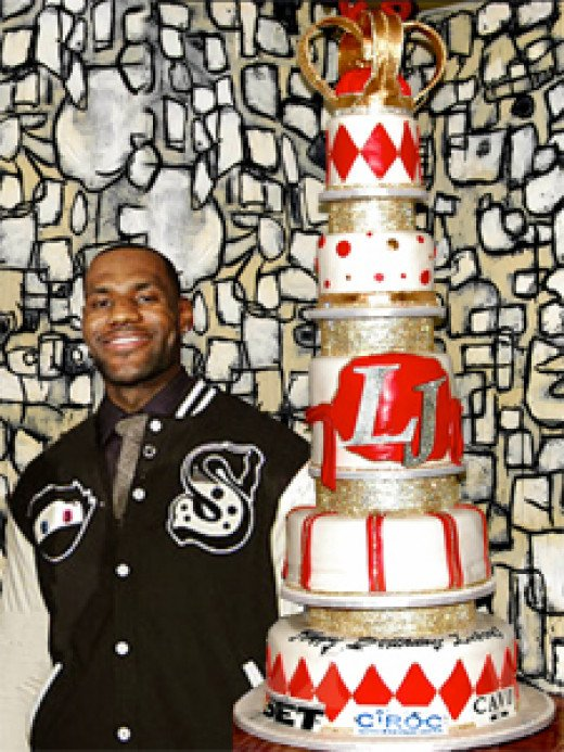 Don't think for one second that Lebron wasn't involved in the design and spec's of this cake. King James in full effect.