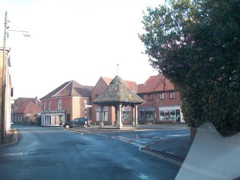 Joh Soame Memorial Pump, Aylsham, from Cawston Road