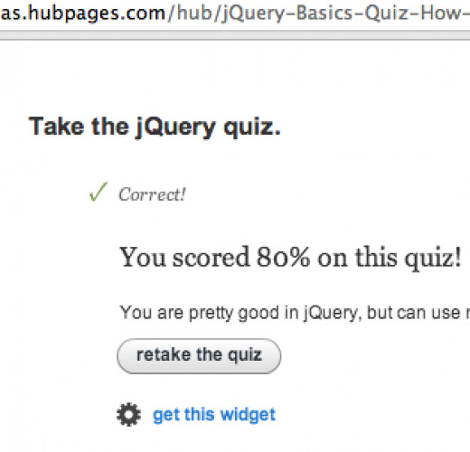 I did pretty good on a web development quiz found on Hubpages - with no looking of course!