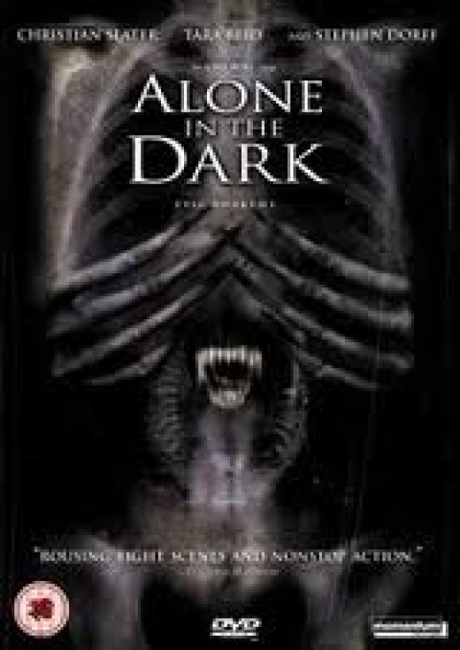 Alone in the Dark stars Christian Slater and it is loosely follows the video game's theme. The movie has a lot of paranormal ghost activity to keep you on the edge.