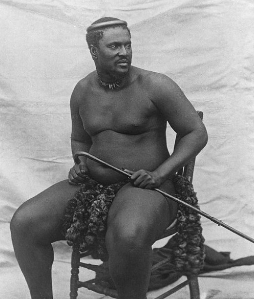 A photograph of Cetshwayo taken around 1875, four years prior to his famous victory at Isandhlwana.