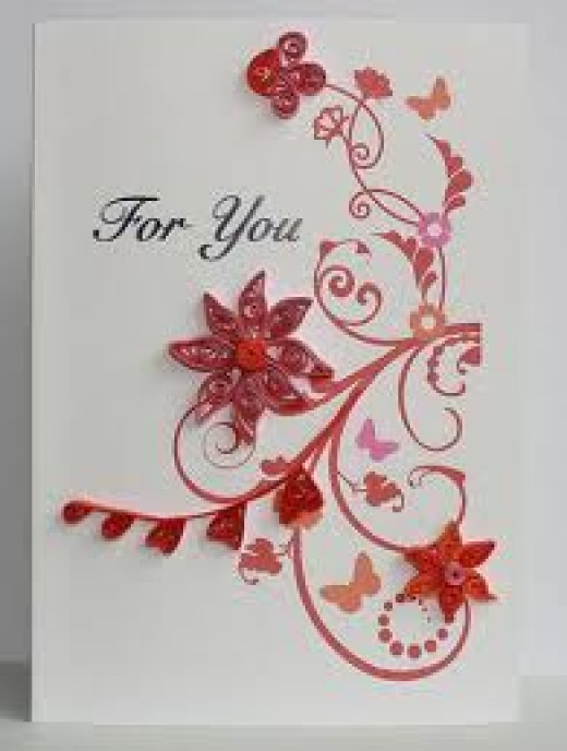 Example of a beautiful quilled card.
