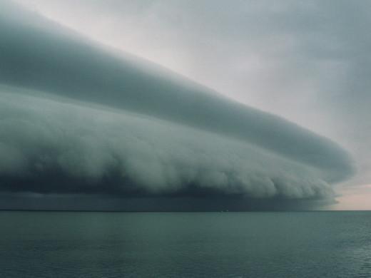 Hurricane coming ashore
